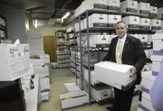 Tarik Khatib, Chief of Police says a new building could include more storage racks and retrieval systems to improve storage efficiency for the hundreds of boxes of records that are presently taking up a lot of space at the Investigations and Training Center, 4820 Bob Billings Parkway..