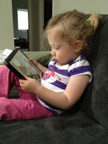 Reading a book on *gasp* an iPad!