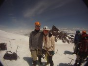 Daryl and Courtney Sappington of Lawrence on Mount Rainier in May 2014.