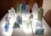 """Mirage City,"" created with kiln-fired glass by Kansas City, Missouri artist Katie Weatherly."