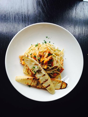 Linguine and local chanterelles at Merchants Pub & Plate (Photo from facebook.com/MerchantsOnMass)