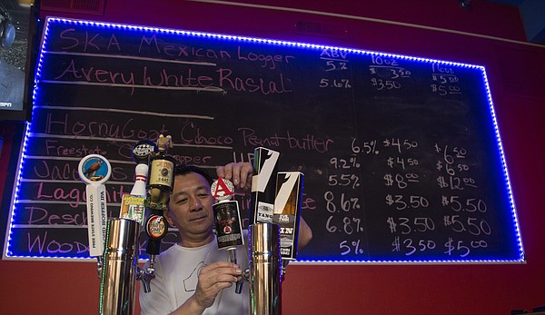 Ted Nguyen owns Ted's Taphouse, 1004 Massachusetts St.