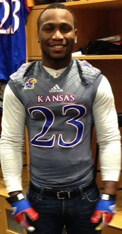 New KU running back De'Andre Mann on his official visit to Kansas.
