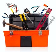 Essential tools for a toolbox should include screwdrivers, pliers, wrenches, a hacksaw, utility knife, curved claw hammer and screws and nails.