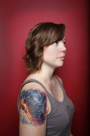 Havana Mahoney has a shoulder tattoo portraying her dog within the galaxy. She decided on the tattoo because the artist specializes in space scenes and portraits.