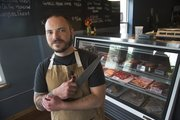 Vaughn Good opened Hank Charcuterie just over a week ago at 1900 Massachusetts St. The shop —specializing in charcuterie products made from Kansas-raised animals that are butchered in-house — offers meats including lamb, goat, duck, chicken and pork. Hank also offers daily sandwich specials.