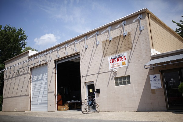 The Lawrence Creates Makerspace building, 512 East Ninth Street, is pictured on July 31, 2014.
