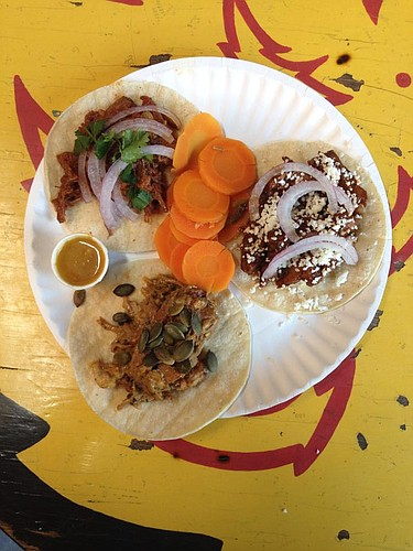 Assorted Mexican street tacos from Taco Zone
