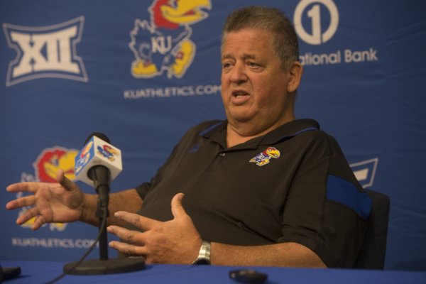KU Football coach Charlie Weis held his 2014 presser on Thursday August 7, 2014, giving the media his thoughts on this year's team.