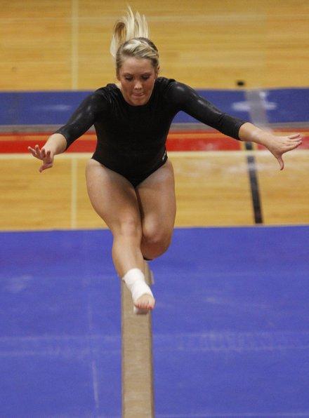 katie baldwin gymnastics meet 2014