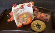A fall centerpiece made from items at L.I. Home Goods