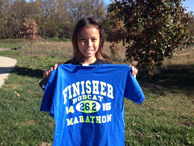 Kayah finishes strong for her first marathon