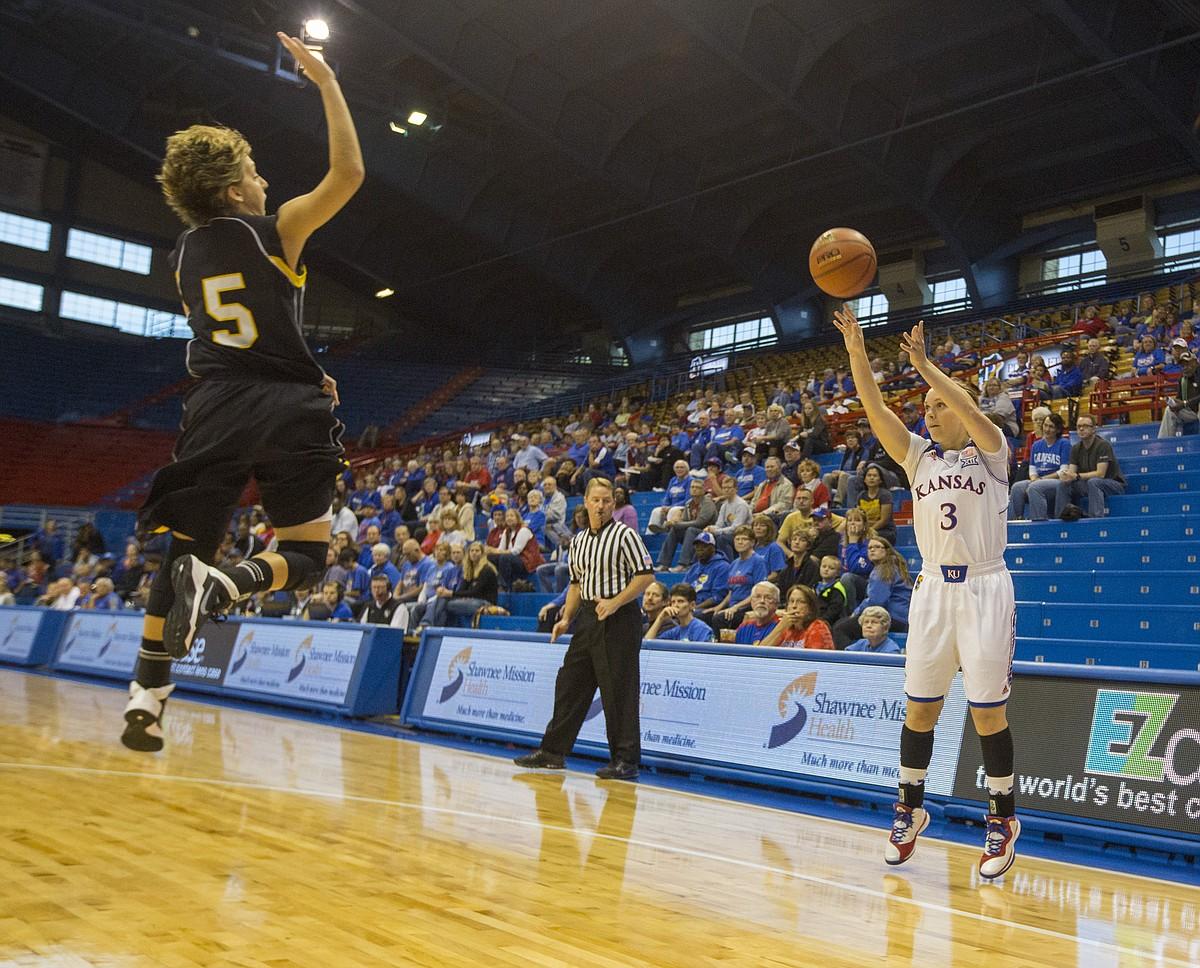 Kansas Womens Basketball vs. Fort Hays State   KUsports.com