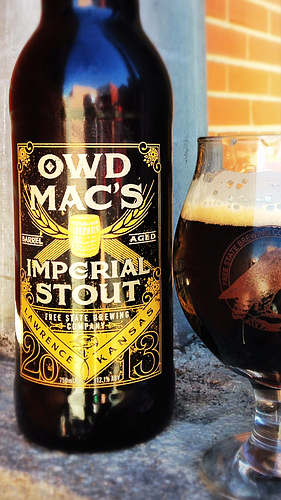 Free State Brewing Co.'s Owd Mac's Imperial Stout