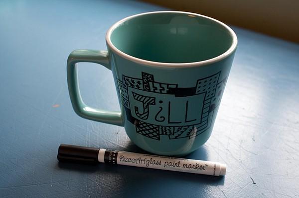Doodled Custom Coffee Mug