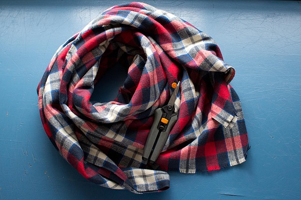 No-Sew Blanket Scarf