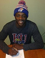 Defensive Back L.B. Bates, of Trinity Valley C.C., signed his official letter of intent with Kansas football early this morning.