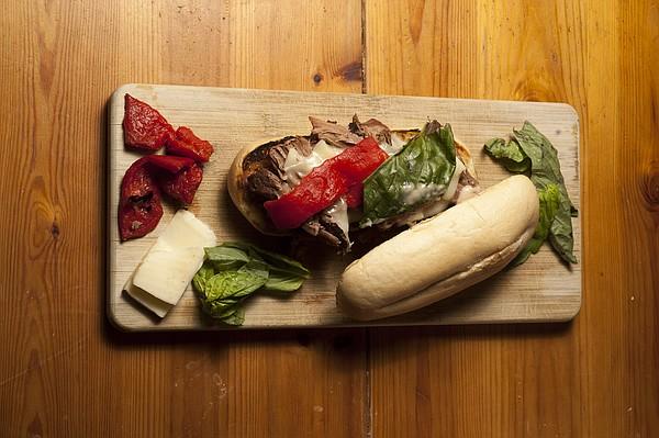 Italian roast beef hoagies