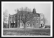 Kansas Memorial Union pictured in the 1930s. The Union opened in 1927. Image courtesy of Kenneth Spencer Research Library, University of Kansas Libraries.