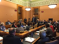 Heartland Community Health Center CEO, Jon Stewart, presents his testimony for Kancare expansion in front of the Kansas House Vision 2020 Committee.