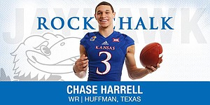 Class of 2015 WR Chase Harrell, who graduated high school early and will participate in spring practices at KU.