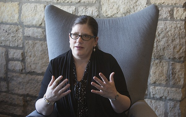 Sarah Deer, pictured Thursday, Feb. 12, 2015, at the Oread Hotel.