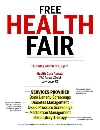 Free Health Fair at Health Care Access flyer