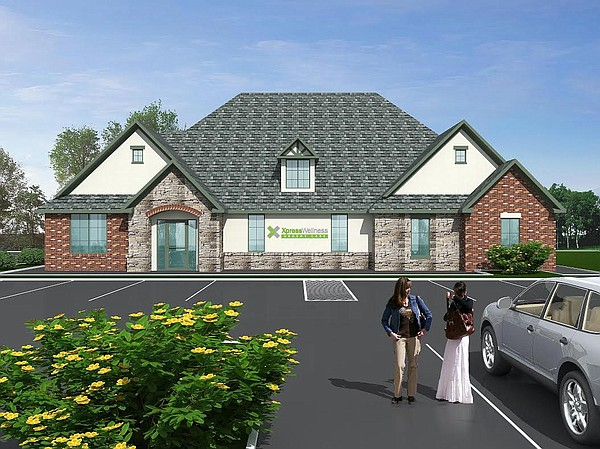 A rendering of a proposed XPressWellness Urgent Care center at Sixth and Folks Road. Photo Courtesy of XPress Wellness Urgent Care