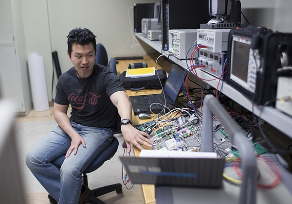 Lei Shi, an electrical engineering doctoral student at KU, is designing on-board collision-avoidance radar for small drones, or unmanned aerial vehicles (UAVs).