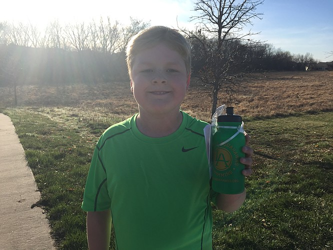 Jacob had a busy week, Monday he ran his .2 to finish marathon #2