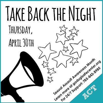 Take Back the Night will take place on Thursday, April 30th to conclude Sexual Assault Awareness Month.