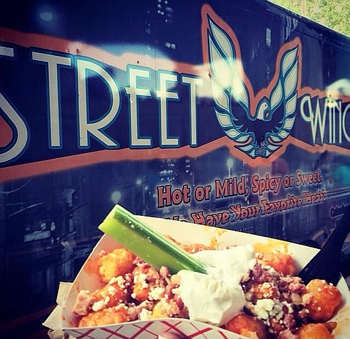 Buffalo tots are a favorite at Street Wings, a Kansas City-based truck owned by Michelle and Jeff Franke.