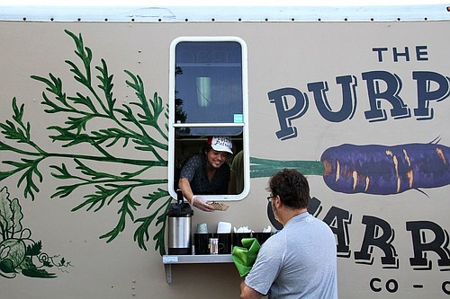 Formerly the Blissful Bite, this Lawrence food truck rebranded itself as The Purple Carrot co-op last year.