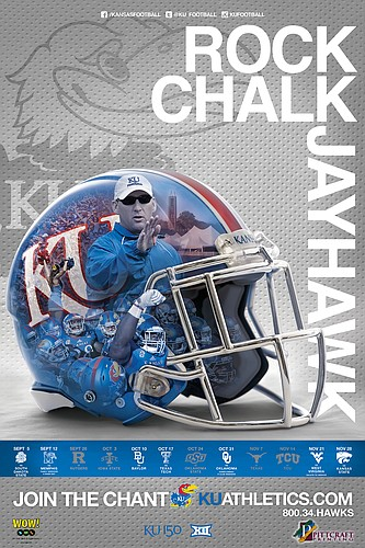 The official 2015 Kansas Football poster.