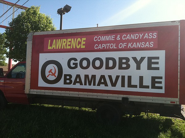 A Prominent Goodbye Sign From Defunct Payless Furniture That Labels Lawrence 39 Obamaville 39 And