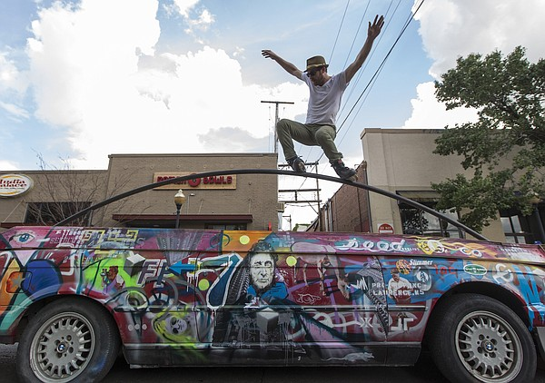 The Art Tougeau parade starts at noon Saturday in front of the Lawrence Arts Center before making a loop through downtown Lawrence.