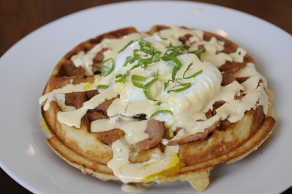 The Hank Benedict at Waffle Iron, 7 E. Seventh St.