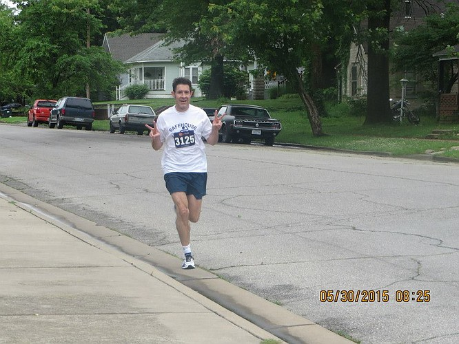 Dr. Eric Huerter in a recent running race