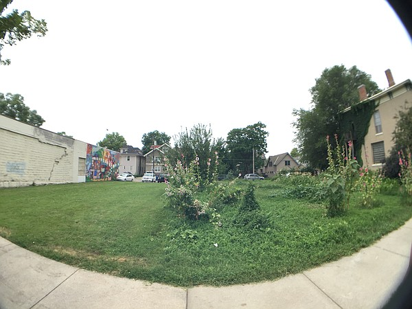 A fisheye view of two vacant lots in the 800 block of Vermont Street, Tuesday, June 30, 2015.