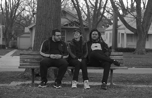 From left, Nathan Giesecke, Daniel Smith and Marty Hillard make up Lawrence hip-hop group Ebony Tusks. The band will be performing at 8 p.m. Saturday at the Granada, opening for Talib Kweli.