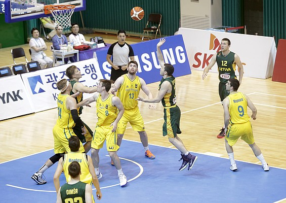 Australia and Lithuania play Thursday, July 9, at the World University Games in South Korea. The winner will take on Team USA who earned a spot in the World University Games quarterfinals with its victory over Serbia on Wednesday. Team USA/Jayhawks play at noon Saturday (10 p.m. Friday CDT). Friday's game will be broadcast by ESPNU.