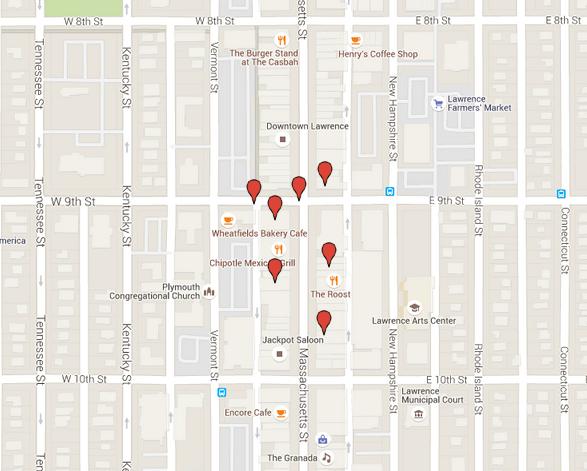 Downtown stores allegedly burglarized