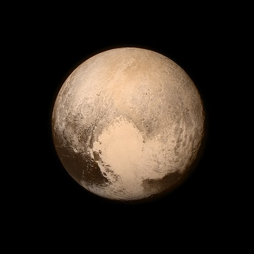 This July 13, 2015, image provided by NASA shows Pluto from the New Horizons spacecraft. The United States is now the only nation to visit every single planet in the solar system. Pluto was No. 9 in the lineup when New Horizons departed Cape Canaveral, Fla., on Jan. 19, 2006.