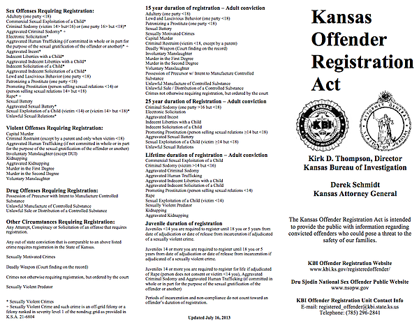 indiana sex offender registry removal in Kansas