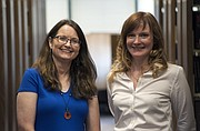 Jean Phillips, director of KU's Project for Innocence and Post-Conviction Remedies, left, and Abby West, a 2015 KU law graduate from Overland Park.