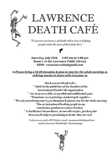 LAWRENCE DEATH CAFE - JULY 25TH