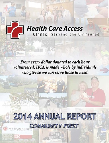 Cover of Health Care Access' 2014 Annual Report.