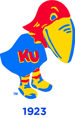 "The 1923 Jayhawk. Jimmy O'Bryon and George Hollingbery designed this ""duck-like"" Jayhawk."