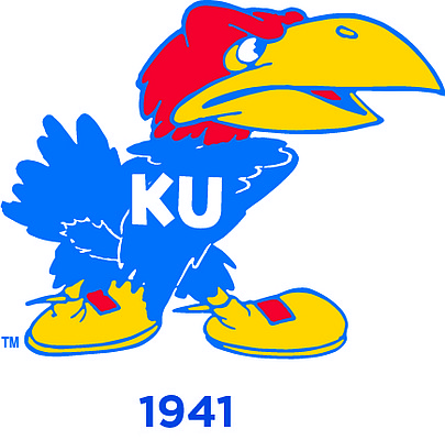 "The 1941 Jayhawk. Gene ""Yogi"" Williams opened the Jayhawk's beak and eyes, getting closer to the version that would last for decades."