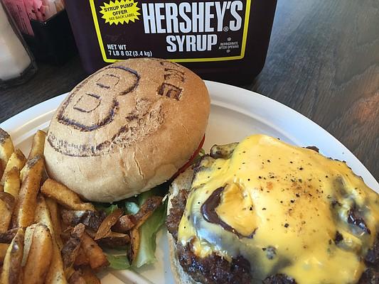 The Chocolate Cheese Smoke Burger at KC Smoke Burger, 1008 Massachusetts St.